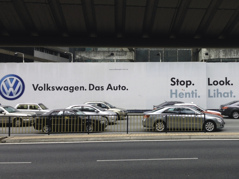 Volkswagen Werbetafel in Kuala Lumpur - Malaysia.
